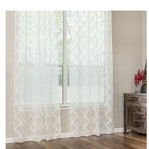Chanasya 2 Panels Moroccan Design Sheer Curtains